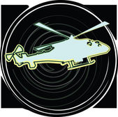 Helicopter. Vector illustration — Stock Vector
