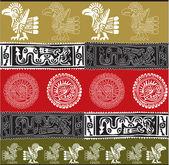 American culture background. Vector illustration — Stock Vector