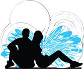 Illustrazione di coppia — Vettoriale Stock