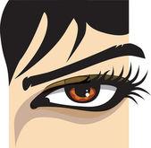 Ilustración de ojo de mujer — Vector de stock