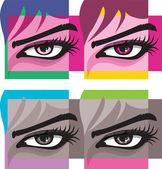 Woman eye illustration — Stock Vector