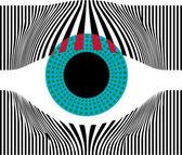 Look at my eyes. Vector illustration — Stock Vector