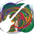 Abstract guitar illustration — Stock Vector