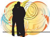 Ilustração de casal — Vetorial Stock