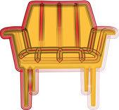 Ilustración de silla — Vector de stock