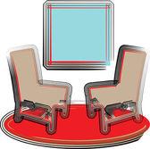 Stühle-abbildung — Stockvektor