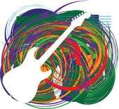 Abstract guitar illustration — Stock Vector