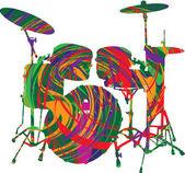 Music festival. Vector illustration — Stock Vector