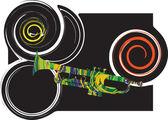 Music instrument vector illustration — Stockvektor