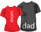 Family tshirts, vector illustration — Stockvector