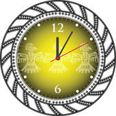 Vintage reloj antiguo — Vector de stock