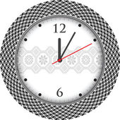 Vintage ancient clock — Stock Vector