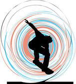 Skater illustration. Vector illustration — Stock Vector