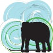 Elefant illustration — Stock Vector