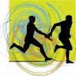 Royalty-Free Stock Vector Image: Running men, Vector illustration
