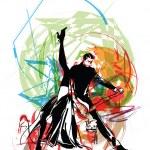 Illustration of dancers.. Vector illustration — Stock Vector