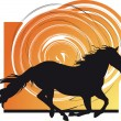 Stock Vector: Horse vector illustration