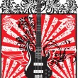 Electric guitar design. Vector illustration — Stockvectorbeeld