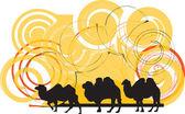 верблюжий иллюстрация — Cтоковый вектор
