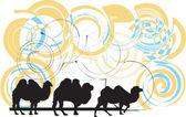 Illustrazione di cammello — Vettoriale Stock