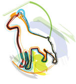 Perro, ilustración vectorial — Vector de stock