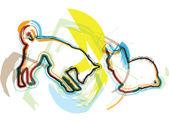 Kot i pies, ilustracji wektorowych — Wektor stockowy