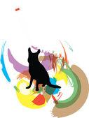 Cão, ilustração vetorial — Vetorial Stock