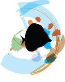 Ilustrace ryb — Stock vektor