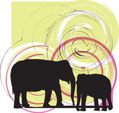 Elefant illustration — Stock Vector
