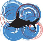 鲨鱼图 — 图库矢量图片