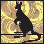 Kangaroo vector illustration — Stock Vector