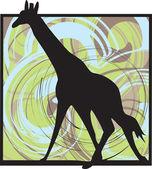 Giraffe vector illustration — Stock Vector