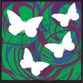 Fundo de borboleta. ilustração vetorial — Vetorial Stock