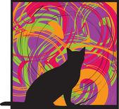 Cat, vector illustration — Stock Vector