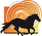 Horse vector illustration — Stock Vector