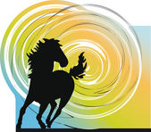 Ilustração vetorial de cavalo — Vetorial Stock