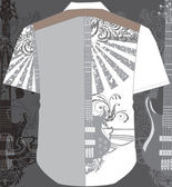 Men shirt. Vector illustration — Stok Vektör