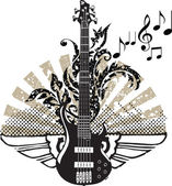 Electric guitar design. Vector illustration — Stockvector