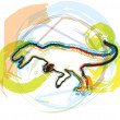 Dinosaur. Vector Illustration — Stock Vector