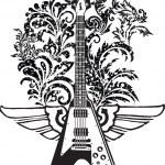 Electric Guitar design — Stock Vector #9254664