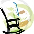 Rocking chair. Vector illustration — Stock Vector #9254746