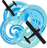 Flugzeug-vektor-illustration — Stockvektor