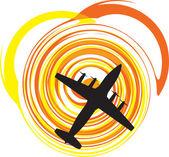 Airplane vector illustration — Cтоковый вектор