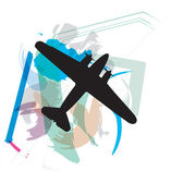 Airplane vector illustration — Stock Vector
