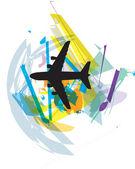 Airplane vector illustration — Stock Vector