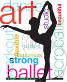 Ballet, Vector illustration — Stock Vector