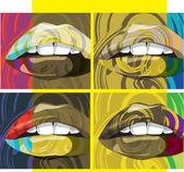 Mooie vrouw lippen illustratie — Stockvector