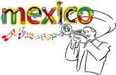 Mexican Mariachi. Vector illustration — Stock Vector