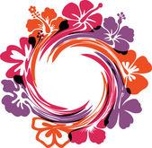 абстрактные цветы иллюстрации. векторные иллюстрации — Cтоковый вектор