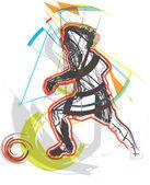 Fotbalista. vektorové ilustrace — Stock vektor